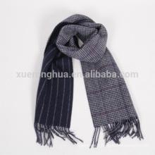 Écharpe double face 100% laine et pied de poule