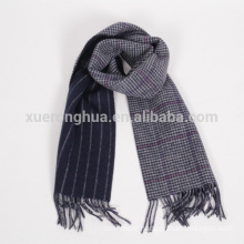 100% wool houndstooth double faced scarf