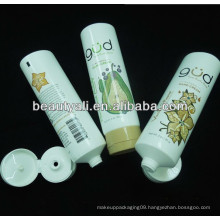 cosmetics plastic soft tube with flip top cap