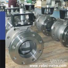 Válvula de bola de acero inoxidable V con cojín de montaje directo