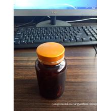 Botella soplada de plástico opaco