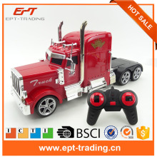 RC truck 4ch 2.4G rc container truck engineering cartage vehicle toy container for kids gift