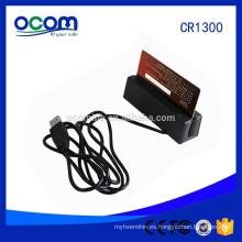 RS232 TTL puerto de interfaz USB programa gratuito programable más pequeño 123 Track Mini MSR lector de tarjeta de banda magnética precio de fábrica