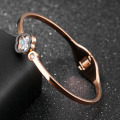 Mode Baru Cubic Zirconia Rose Gold Bangle Bracelet