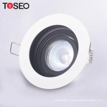 12V 220V ceiling round adjustable mr16 gu10 anti-glare downlight fixtures