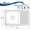 DS 8050A salon shampoo sink dish washing basin drainer double bowl stainless steel sink dustbin