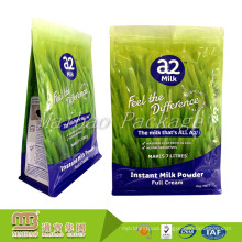 Moisture Proof 1kg Custom Dimension Logo Printed Side Gusset Milk Powder/Flour Packaging Bags With Zipper