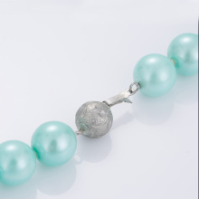 China New Product for Pearl choker Latest Designs Light Blue Pearl Bead Necklace supply to Cameroon Factory