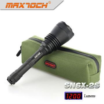 Maxtoch SN6X-2S 18650 Bateria caça de longo alcance alumínio LED Lanterna