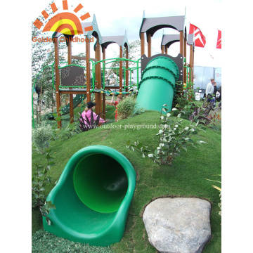 Outdoor Straight Playground Tube Slide Zu Verkaufen