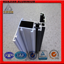 Varios tipos de perfiles de aluminio para ventanas y puertas