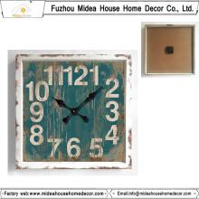 Material de decoração Relógio de parede quadrado