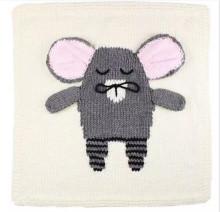नवजात कार्टून कपास कंबल माउस crochet