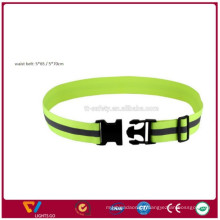 Custom safety reflective waist belt for motorcycle cycling