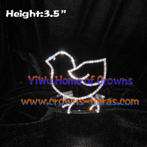 Crystal Turkey Shaped Easter Festival Crowns