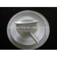 stripe lines full decoration newly designed bone china melamine