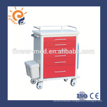 Shanghai Flower Medical ABS emergency medical trolley cart supplier FM-75