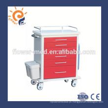 Xangai Flor Medical ABS médico carrinho de carrinho médico fornecedor FM-75
