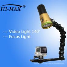 Caméra vidéo de plongée Flash Light Torch avec bras flexible réglable