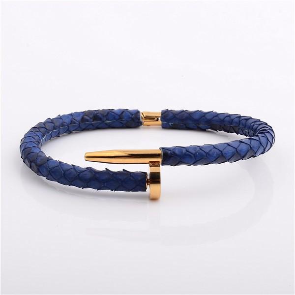 Genuine Python Nail Bracelet