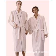 100% cotton waffle&towelling bathrobe