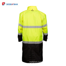 Customized High Visibility Oil Field/Flame Resistant Raincoats Waterproof Jackets With Reflective Tapes Outdoor