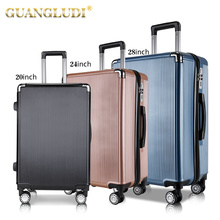 abs pc travelling bags with trolley