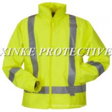 EN471 100% algodón Hi-vis chaqueta con cinta reflectante EN471 100% algodón Hola-vis chaqueta con cinta reflectante