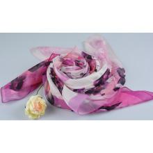 100% Silk Digital Print Shawl Fashion Silk Chiffon Shawl