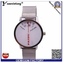 Yxl-371 Novo Design de Malha Strap Mens Relógios De Quartzo Digital Cronógrafo de Aço Inoxidável Moda Relógios