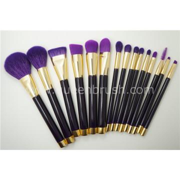 15PCS Ensemble de brosse à maquillage minéral de haute qualité pour cheveux naturels