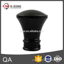 Painting black color curtain rod finial