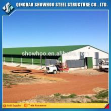 Faible coût structure en acier poultry hangar maison de poule