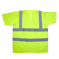 100% polyester knitted fabric Wholesale factory reflective T-shirt, EN471 safety shirt