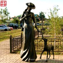 2016 Escultura nova do retrato do bronze da escultura da figura do bronze para o jardim