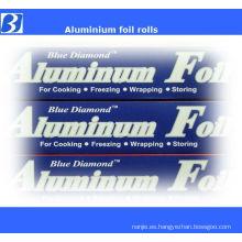 micrones de rollo de papel aluminio