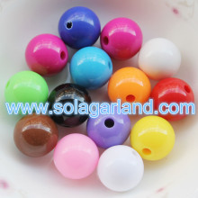 6-20MM Acrylic Opaque Round Bubblegum Beads Spacer Chunky Jewelry Making Beads