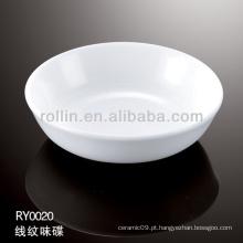 Saudável prato de molho de porcelana branca durável especial