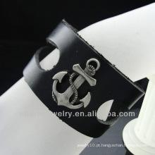Pulseira de couro quente do estilo da forma da venda com encanto 2013 BGL-021
