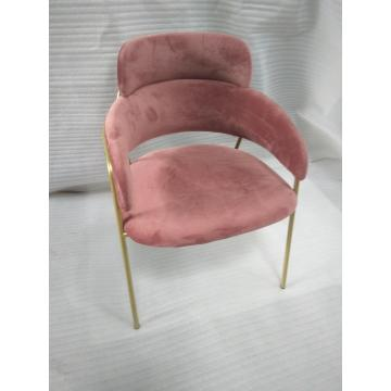 Chaise de restaurant en acier inoxydable Gold Gold Legs