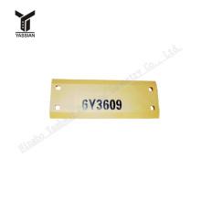 Loader cutting edge 6Y3609 HD Rear Wear Plate