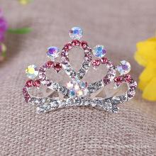 Crystal Accessoires pour cheveux nuptiaux Bijoux pour filles Children Crown Tiara Peigne
