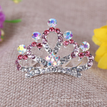 Crystal Bridal Hair Accessories Girl's Jewelry Children Crown Tiara Comb