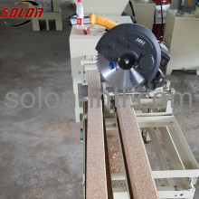 Automatic wood sawdust machine to make pallet blocks