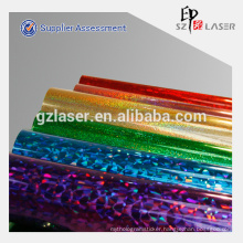 Popular holographic wrapping film for food packaging in roll