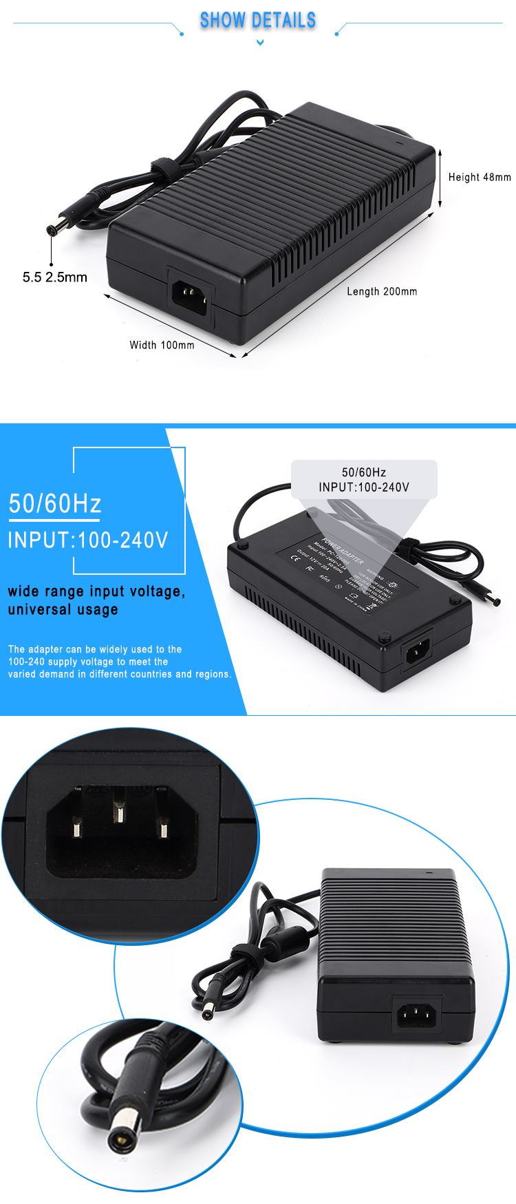 switching power supply adapter 26v 7a