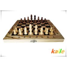 Schachspiel Schachbrett aus Holz Schachfiguren