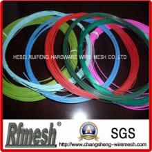 Темно-зеленый ПВХ с покрытием провода, серый пластик покрытием для вешалки, ПВХ железной проволоки
