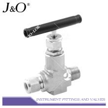 Válvula de agulha de rosca NPT de aço inoxidável de alta pressão