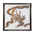 CANOSA Golden paua shell hand engarving phoenix Wall foto